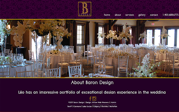 BaronDesign.ca - Responsive site and logo